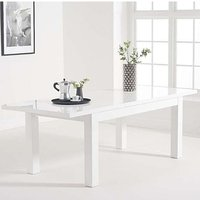 Product photograph showing Worrel Wooden Extending Dining Table In White High Gloss