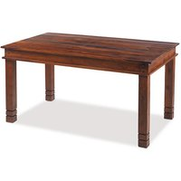 Zander 120cm Wooden Dining Table In Sheesham With Square Legs