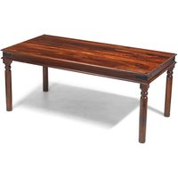 Zander 200cm Wooden Dining Table In Sheesham With Round Legs
