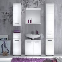 Zenith Bathroom Furniture Set 1 In White With High Gloss Fronts