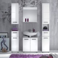 Zenith Bathroom Furniture Set 3 In White With High Gloss Fronts