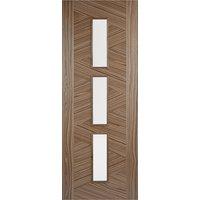 Zeus Glazed 1981mm x 838mm Internal Door In Walnut