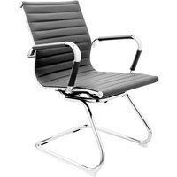 Zexa Faux Leather Dining Chair In Grey With Chrome Metal Legs