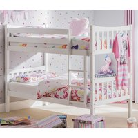 Product photograph showing Zodiac Wooden Bunk Bed In Bright White