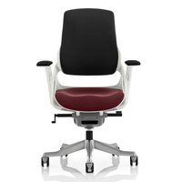 Zure Black Back Office Chair With Ginseng Chilli Seat