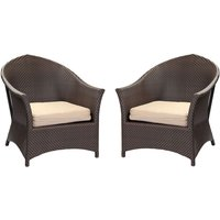 2 x Marrakesh Armchair With Cushions - Plus Free Side Table