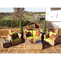 Product photograph showing Montana 2 Seater Sofa Suite - Outdoor