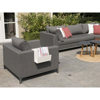 Product photograph showing Sicilie Lounge Armchair Anthracite Frame
