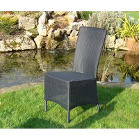 Product photograph showing Avery Diner Chair Black
