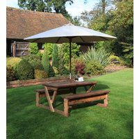 Product photograph showing Bourton 6 Seater Picnic Table Fsc Certified