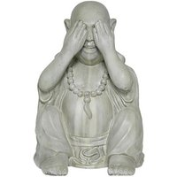 Product photograph showing Buddha See No Evil Garden Ornament