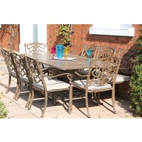 Casino 8 Seater Medium Rectangle Table and Chairs set | PRE ORDER