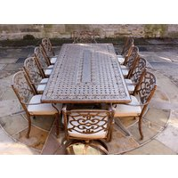 Casino 10 Seater Rectangle Table and Chairs set | PRE ORDER