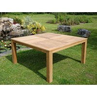 Product photograph showing Chunky Garden Table - 150cm Square