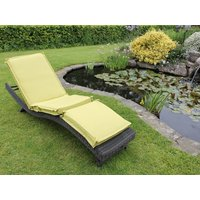Product photograph showing Chunky Sun Lounger Outdoor Cushion - Lime