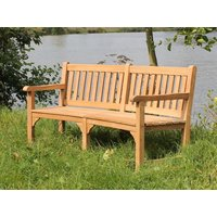 Contour Teak Bench With Arms