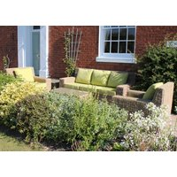 Product photograph showing Cove 3 Seater Sofa Suite - Outdoor Water Hyacinth