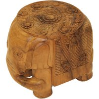 Product photograph showing Elephant Carved Ornament