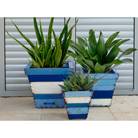 Product photograph showing Collaroy Square Planters Set Of Three