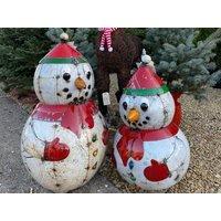 Product photograph showing Festive Snowman Sculpture Large