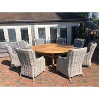 Fiji 8 Chair Dining Set | With Malvern 2.1M FSC® Certified Table