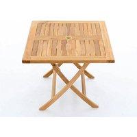 Product photograph showing Amelia Teak Folding Table