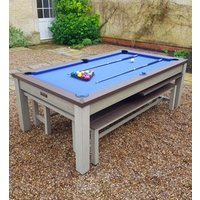 Product photograph showing Outdoor Games Diner Table - Grey Brown