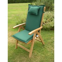 Product photograph showing Recliner Outdoor Cushion - Dark Green