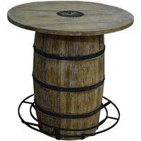 Round Barrel Bar Table