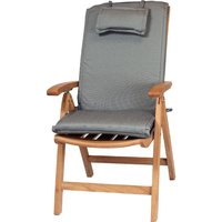 Product photograph showing Recliner Outdoor Cushion - Black Pinstripe