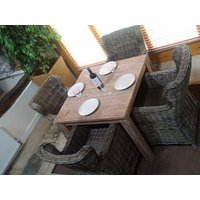 Kubu 90cm Square Table and Chairs Set