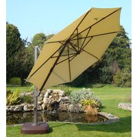 Product photograph showing Cantilever Parasol - Roma 3 5m - Green - Ex Display