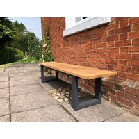 Product photograph showing Edge Teak Backless Bench Fsc Certified
