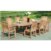 Malvern Extending Teak Dining Set | FSC® Certified