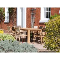 Mayfair Teak 8 Chair Dining Set | FSC® Certified