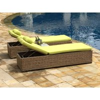 2 x Montana Sun Lounger + Free Side Table