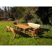 Product photograph showing Oak Garden Dining Set Large