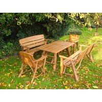 Product photograph showing Oak Garden Dining Set Medium