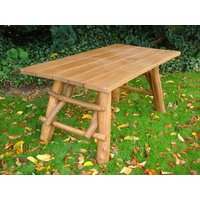 Product photograph showing Oak Garden Meal Table 1 6m