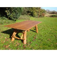 Product photograph showing Oak Garden Meal Table 2 2m