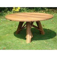 Product photograph showing Oak Garden Meal Table 1 5m Diameter