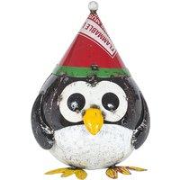 Product photograph showing Festive Penguin Sculpture Small