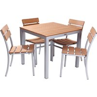 Plaza Dining Set (Four Dining Chairs)