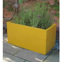 Coloured Chunky Trough Planter | FSC® Certified