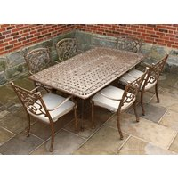 Casino 6 Seater Medium Rectangle Table and Chairs set
