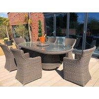 Seville 6 Chair Rattan set