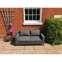 Product photograph showing Sicilie Lounge Two Seater Sofa Anthracite Frame