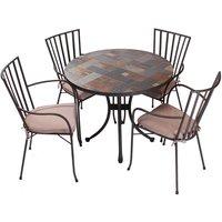 Carnglaze 4 Chair Dining Set