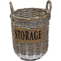 Small Round Kubu Storage Basket