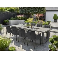 Product photograph showing Stelvio 3m 8 Chair Dining Set Life Range